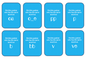 Partner Cards-Phonics Sounds-1st Grade-engageNY Skills