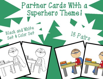 Partner Cards With a Superhero Theme!