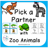 Spring Activities Zoo Animal Partner Cards