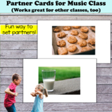 Partner Cards for Music Class