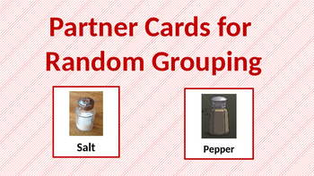 Partner Cards for Randomized Grouping