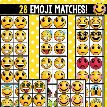 Partner Cards with Emoji Matches