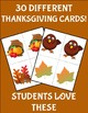 Partner Cards with Thanksgiving