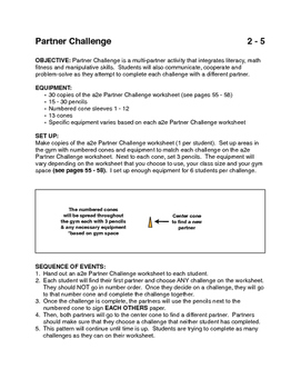 Partner Challenge activity for PE