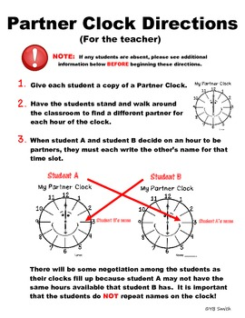 Partner Clocks for Pairwork SECONDARY