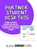 Partner Desk Tags