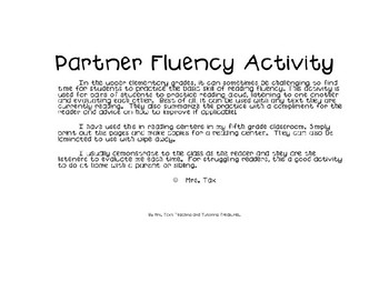 Partner Fluency Check Activity