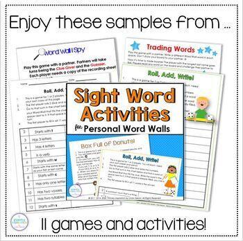 Word Wall Partner Games