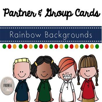 Partner & Group Cards: 8 Polka Dot Themed Cards