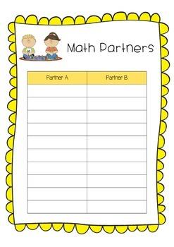 Partner Grouping Poster