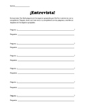 Partner Interviews & Biographies Worksheets