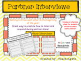Partner Interviews for the Beginning of the Year