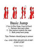 Partner Jump Rope Complete Station Card Set