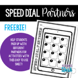 Partner Match Cooperative Learning (Speed Dial Match) Freebie