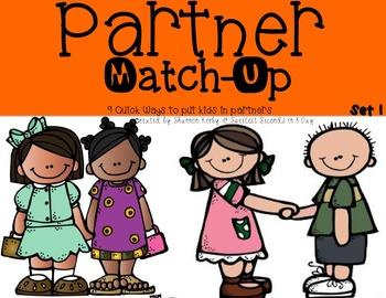 Partner Match Up Cards {Set 1}