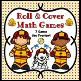 Roll and Cover Math Games (Firefighter Theme)