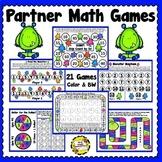 Partner Math Games (Monster Theme) (Printable)