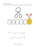 Partner Numbers: Decomposing Numbers 5 to 10 : Caterpillar