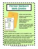 Partner Numbers Math Station