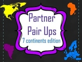 Partner Pair Up- Seven Continents Edition