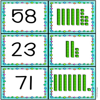 Partner Pairing Cards - Math - Place Value - 2 Digit