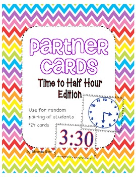Partner Pairing Cards - Time to Half Hour Edition