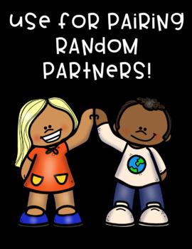 Partner Pairing Pairs Matching Cards!