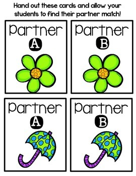 Partner Pairs - April
