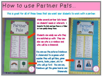 Partner Pals-February, March & April