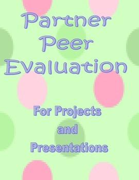 Partner Peer Evaluation Form