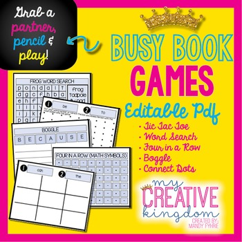 Partner, Pencil and Play Busy Book Games