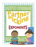 Partner Picking Cards - Exponents