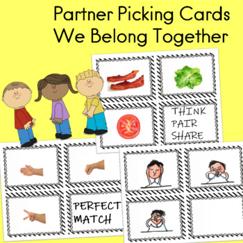 Partner Pairing Cards  Think Pair Share