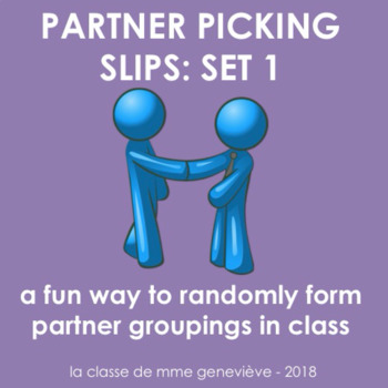 Partner Picking Slips - an inclusive system for grouping students