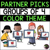Partner Picks - Groups of 4 (Color Theme)