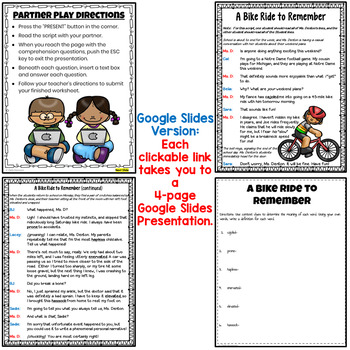 Partner Play FREEBIE for grades 4-5