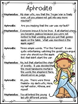 Partner Play FREEBIE for grades 4-5: Greek Mythology Partner Play