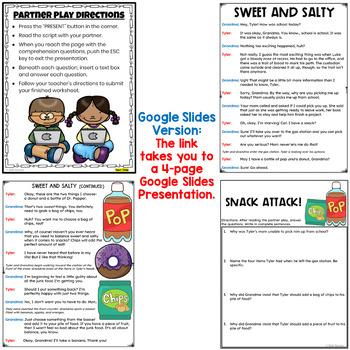 Partner Play FREEBIE for grades 4-5 (fluency activity)