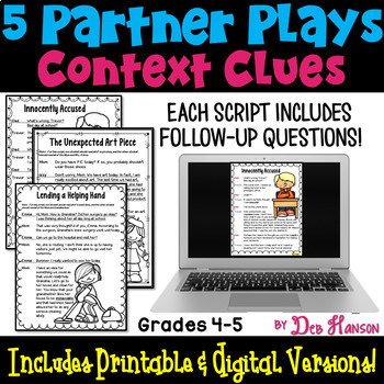 Context Clues Partner Plays (4th and 5th grades)