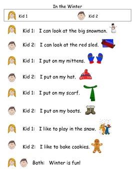 Kindergarten Daily 5- Partner Plays