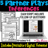 Partner Plays: Making Inferences (4th and 5th) Printable and Digital Options