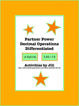 Partner Power: Decimal Operations Differentiated