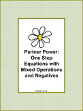Partner Power: One Step Equations with Mixed Operations and Negatives