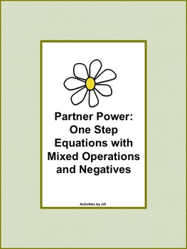 Partner Power: One Step Equations with Mixed Operations an