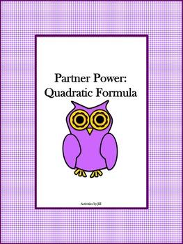 Partner Power: Quadratic Formula