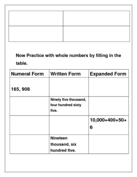 Partner Practice Decimals and Whole Numbers
