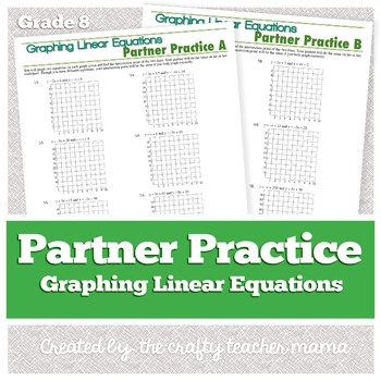 Partner Practice: Graphing Linear Equations (8th Grade Common Core)