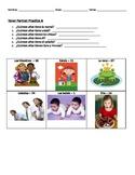Partner Practice -- Tener (Present Tense) Spanish Worksheet