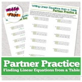 Partner Practice: Writing Linear Equations from a Table