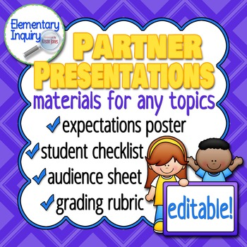 Partner Presentation Materials for Any Topics with Poster
